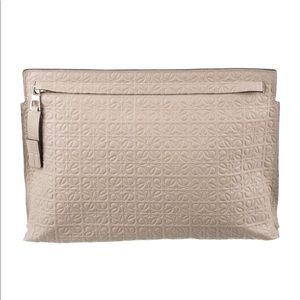 LOEWE Bag Repeat Anagram T Pouch Clutch Leather